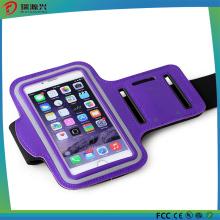 Braçadeira esportiva para iPhone 6/5/4 exercício, esporte (roxo)