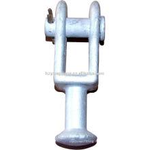 La horquilla de la rueda que cabe los accesorios de las líneas aéreas de los accesorios de la línea del extremo del poder de la energía del poste de la potencia que cabe la instalación