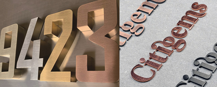 large metal letters for outside