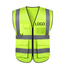 Custom Multi Pockets  Breathable Workwear Reflective Safety Vest with Reflective Strips