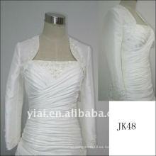 JK48 mujeres Beaded chaqueta de boda de manga larga