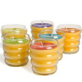 100% pure natural Beewax glass jar candle sweet gift healthy candle
