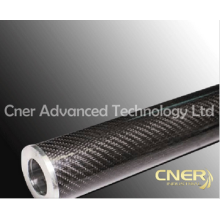 Rodillo de fibra de carbono de alta calidad, tubo de fibra de carbono de tela de tejido brillante 3K
