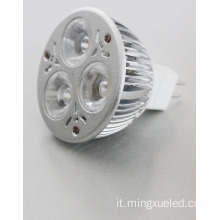 Faretto a Led 16 V DC 3W Faretto a Led MR E27 GU10
