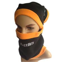 Unisex 3-en-1 sombrero de invierno Snood Polar Fleece Máscara Snood sombrero cuello Warmer Ski bufanda Beanie Balaclava Máscara facial