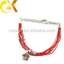 Bracelete de couro da jóia do aço inoxidável China fabricante
