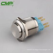 CMP impermeable 1NO1NC 22mm interruptor de botón de cierre de acero inoxidable