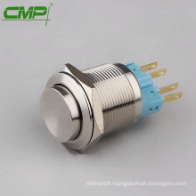 CMP waterproof 1NO1NC 22mm stainless steel latching push button switch