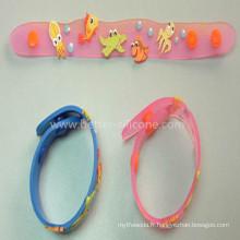 Bracelet en PVC souple personnalisé vente chaude