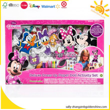 Mickey Mouse Deluxe Dress Up Set di attività di bambola di carta