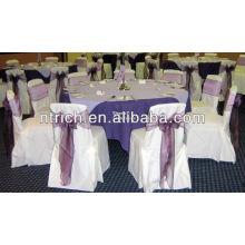 tampas da cadeira do poliéster visto encantador 100% para o casamento e o banquete