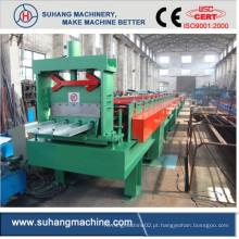 Rolo de aço galvanizado automático da folha do Decking do telhado que forma a máquina