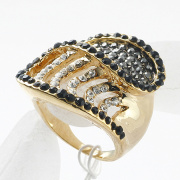 Best Quality 18K Gold & Platinum Plated Crystal & Rhinestone Rings Fashion Jewelry wholesale