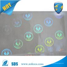 Hochwertige Anti-Fälschungen transparente Hologramme