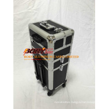Professional 4 Tires Large Nail Make up Train Case