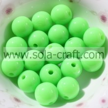 Fashion Lovely 6MM Solide Acrylique Brillant Vert Bracelet Perles
