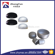 2 inch stainless steel pipe fitting pipe end cap ASTM A234 WPB