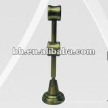Duplo prático suporte de haste de cortina de metal, suporte de pólo, suporte de cortina de ferro