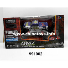 1: 12 4-CH R/C Car with Light&Electricity Baby Toy (991002)