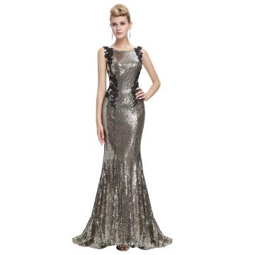 Starzz 2016 sin mangas pálido dorado Backless brillantes lentejuelas largo formal vestido de noche ST000072-2