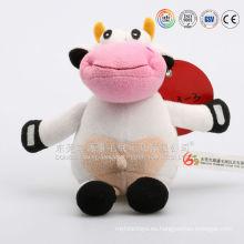 ICTI audita el juguete OEM / ODM juguete de vaca de peluche personalizado, vaca de felpa