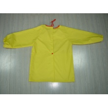 Yj-1151 Kids PU Yellow Light Rain Jacket for Toddlers Rain Wear