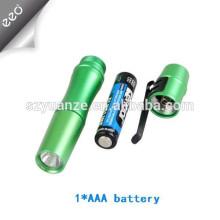 Lumière de stylo médical à alliage d'aluminium promotionnel 1w en aluminium, 1 * lampe à stylo médical à petite batterie AAA