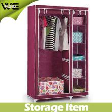 Le stockage pliable bon marché habille les meubles à la maison modernes de garde-robe de tissu de Cabinet