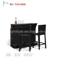 Черный ротанг элегантный уютный, мебель на кофе (8019BT+8019BC)