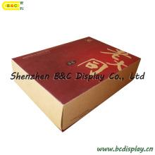 Boîte de biscuit, boîte d'emballage alimentaire, papier brun, papier kraft, papier de peau de vache, boîte de vélin, boîte-cadeau (B & C-I023)