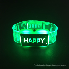 wedding decoration 2017 happy printed led wristband