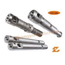 Double baril de vis conique pour l'extrusion de profil de granule de tuyau de feuille de PVC