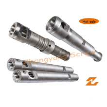 Twin Conical Screw Barrel for PVC Sheet Pipe Granule Profile Extrusion