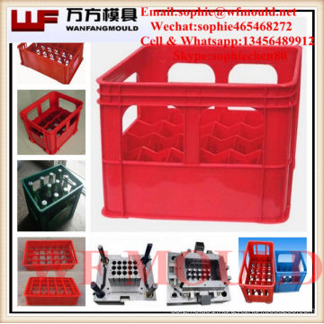 beer plastic crate mould/OEM Custom beer plastic injection crate box mold