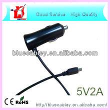 Cargador del coche del teléfono del cable de los datos del usb 5V1A y 5V2A para Samsung