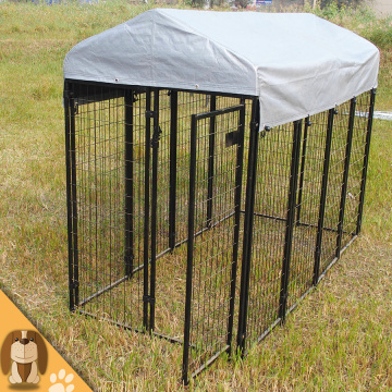 High quality 6'x4'x8' outdoor welded dog kennel