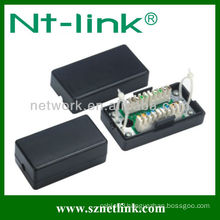 Cat5E Black Color Krone IDC Unshielded Connection Box