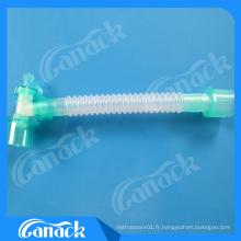 Montage chinois de cathéter de circuit de respiration d'anesthésie de fabricant