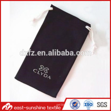 microfiber cell phone/glasses pouch,microfiber drawstring pouch