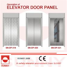 Panneau de porte en acier inoxydable de miroir pour la décoration de cabine d'ascenseur (SN-DP-319)