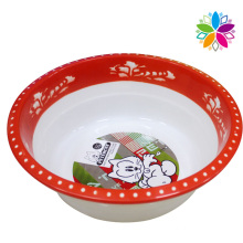 Creative Printed Design Round Plastic Wash Basin (SLP051)