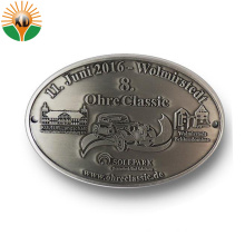 Customized Zinc Alloy Antique Silver Metal Belt Buckle for Gifts