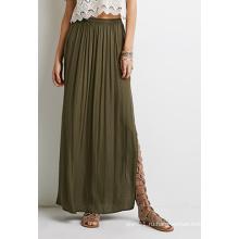 Мода OEM Богемии с высоким раскол бюст плиссированные юбки для женщин