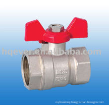 Butterfly handle female brass ball valve