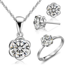 Single Diamond Jewelry Set 925 Silver Jewelry Wholesales