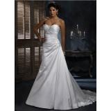Wholesale brand new customized satin strapless wedding dress