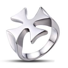 Jóias descobertas médico metal jóia cruz anel