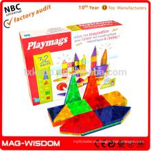 Playmags 2016 construcción magnética azulejos de construcción Magna azulejos juguetes educativos 32 piezas