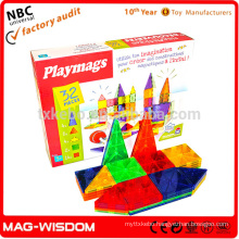 Playmags 2016 Magnetic Building Tile Blocks Construction Magna Tiles Educational toys 32pcs Set
