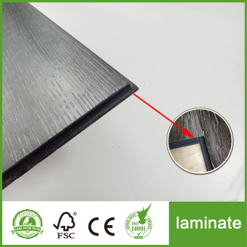 12mm Hitam HDF Laminate Flooring tahan air